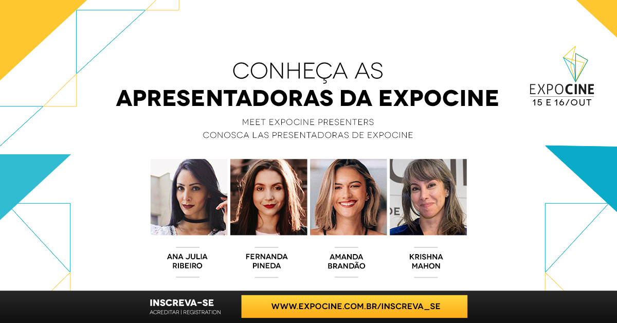 Conheça as apresentadoras da Expocine 2020