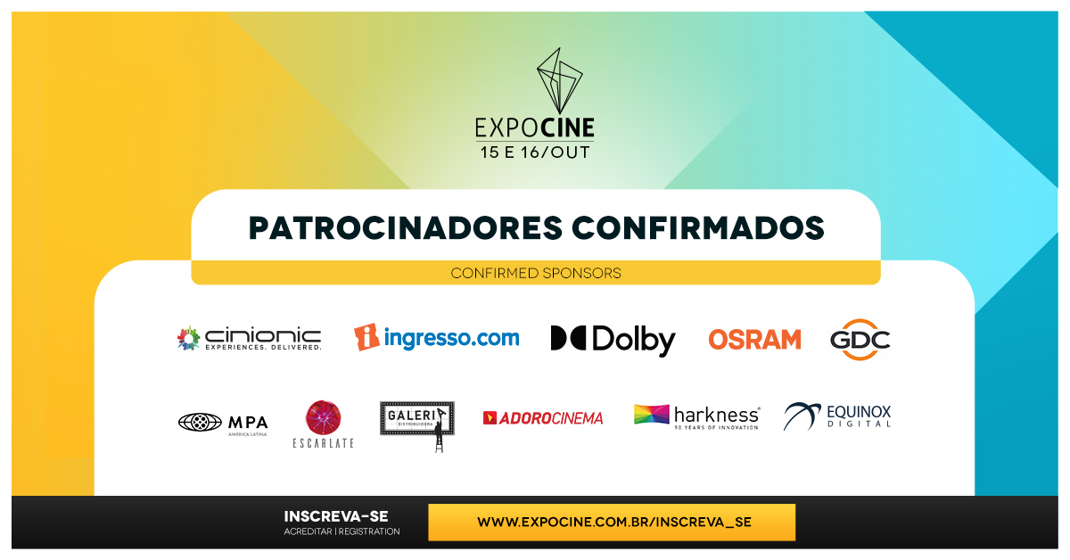 Saiba quem são os patrocinadores da Expocine 2020