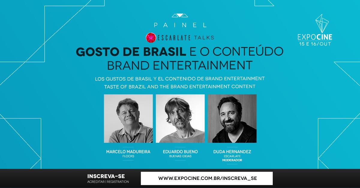 Brand Entertainment é tema de painel com Marcelo Madureira e Eduardo B
