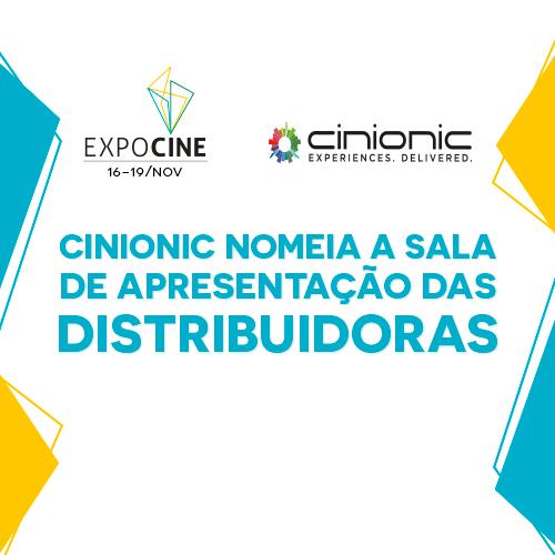 Sala Cinionic volta para apresentação das distribuidoras na Expocine